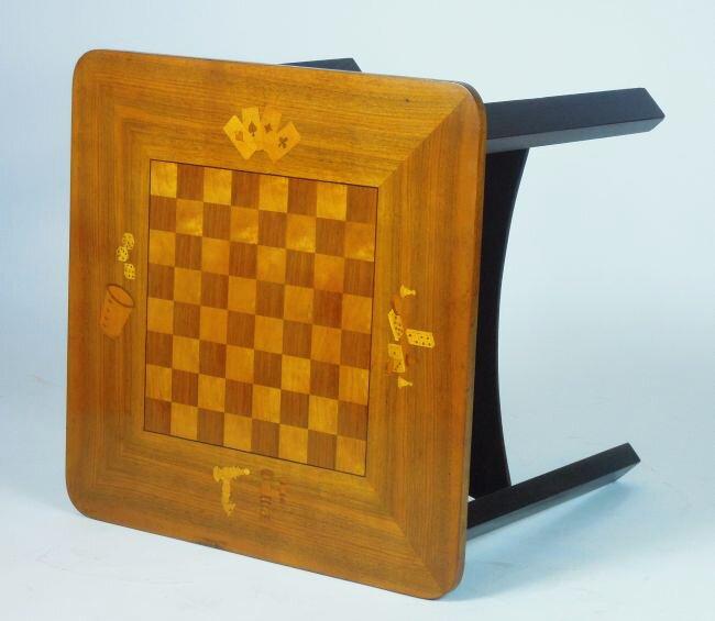 Antyki stolik do gry w szachy art deco