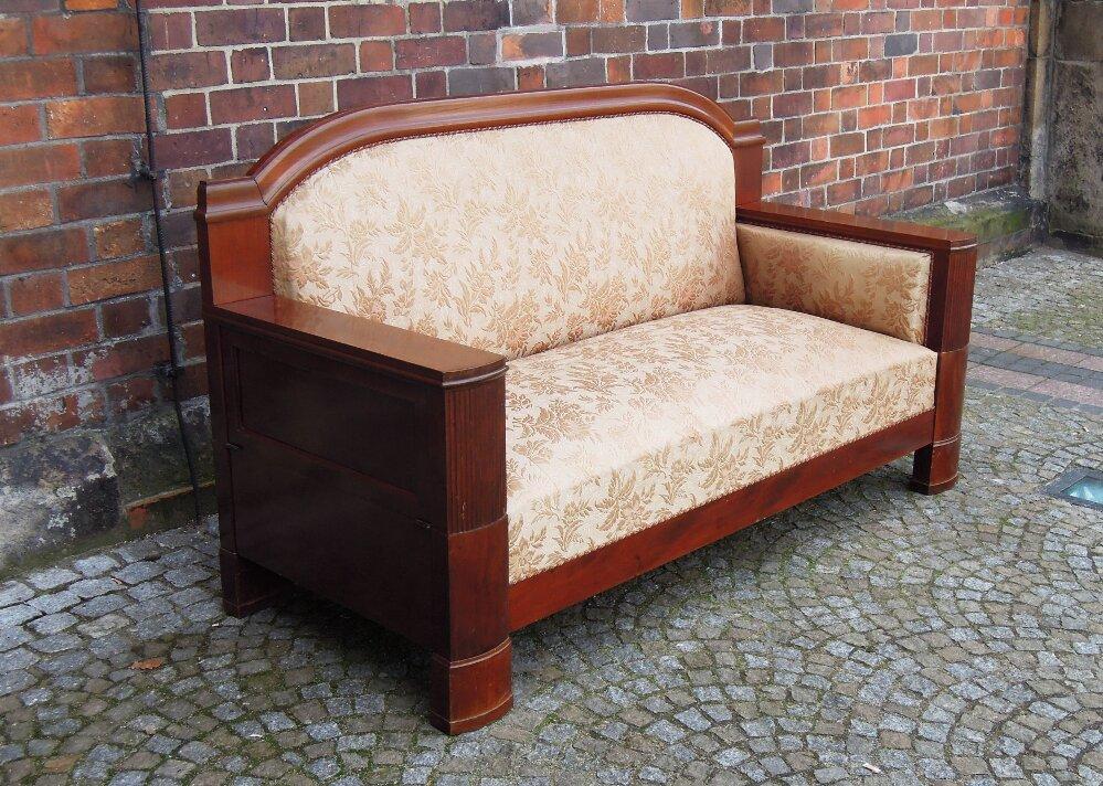 Biedermeier sofa sold antyki meble warszawa krak w wroc aw Biedermeier sofa